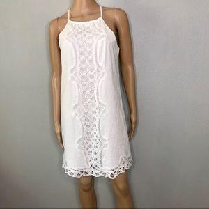White crocket tank dress